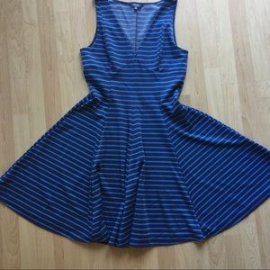 Peter Som blue striped knit dress size 10